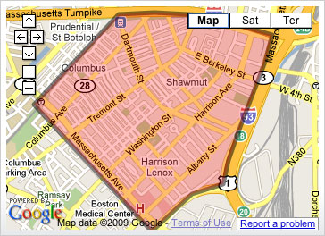 South End Neighborhood Map