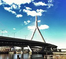 Boston's Leonard P. Zakim Bunker Hill Bridge detail