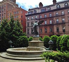 Winged sculpture in Boston's Public Garden