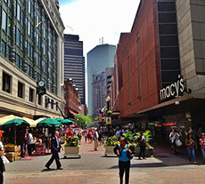 Boston's Downtown Crossing street scene