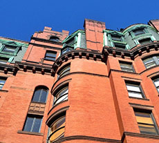 Boston's Beacon Hill condo building architectural detail